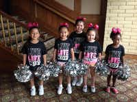 Cheerleaders performed at the Soup, Soap and Hope Luncheon at Las Colinas Country Club.( Couresty )