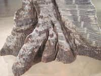 Miler Lagos, The Great Tree, detail (newsprint, steel) at Site Santa FeScott Cantrell  -  Staff