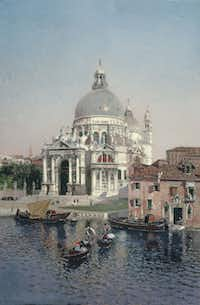 Martin Rico y Ortega (Spanish, 1833-1908), Santa Maria della Salute, 1902. Oil on canvas.