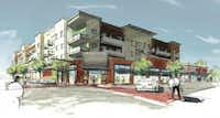 Leasing drawings of one of the buildings Sarofim is considering for Knox Street. (UCR)