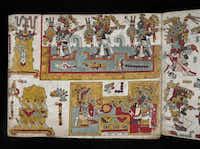 The Codex Zouche-Nuttall, Folio 86. Mexico, AD 1200-1521. A Mixtec picture-writing of the pre-conquest period.