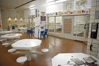 A classroom for juvenile inmates is in what is usually a common area at Lew Sterrett Justice Center in Dallas.( G.J. McCarthy  -  Staff Photographer )