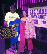 A. D. Jenkins and Sharon Johnston at the B.I.G. D.O.G.S. Youth Summit at Calvary Church.( Courtesy )