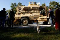 The Dallas County Sheriff's Department's recently acquired Mine Resistant Ambush Protected Tactical Vehicle doesn't purr like a kitten -- it roars to life.