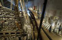 The Vasa is displayed at the Vasa Museum in Stockholm.  Sweden's 17th century royal warship Vasa, which sank in 1628 and was brought to the surface three centuries later.