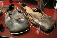Remarkably, many leather objects, such as these shoes, survived more than four centuries in the Solent after the Mary Rose sank in 1545. They're now on show at the Mary Rose Museum in Portsmouth, England.