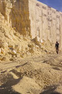 Asphalt and sulfur sites Houston, Texas