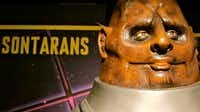 The Sontarans are among the baddies on display at the the Doctor Who Experience in Cardiff, Wales.(John Lee - John Lee)