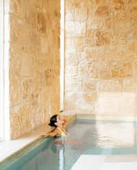 A soothing dip in the private jet-tub area at Lake Austin Spa Resort makes for a perfect ending to a spa day.