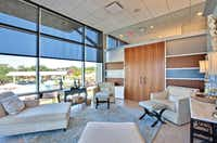 Relaxation areas at Lakeway Resort's San Saba Spa provide sunny views of Lake Travis.