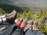 Guests at New Life Hiking Spa take a break while on an advanced hike on Pico Peak.Kathy Chin Leong -  Kathy Chin Leong