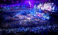 Fans packed  the Mercedes-Benz SuperDome in New Orleans last year for WrestleMania. For the 2016 installment to be hosted in Arlington, organizers expect 125,000 people to descend on North Texas for events leading up to the big show.( WWE )