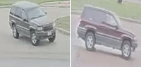 Police released these photos of a vehicle sought in connection with last month's fatal shooting.
