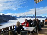 You can have lunch while enjoying the views at the Eigergletscher railway station, high in the Jungfrau.(Tina Danze - Tina Danze)