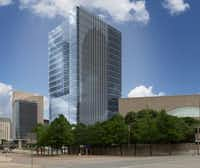Developer Lincoln Property plans to build a 23-story office tower on the corner. (Lincoln Property)