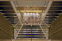 Reproductions of  the centuries-old   Bayeux Tapestry are placed on the landings of stairwells fore and aft on Viking Star.(Viking Cruises)