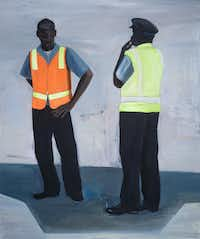 Paul Anthony Smith Tarmac #1, 2011, Oil on Canvas, 72? x 60?, image Courtesy of E.G. Schempf