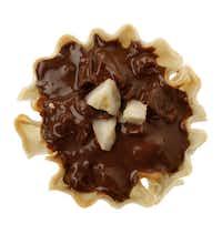 Chocolate-Hazelnut tart.