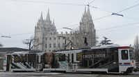 Temple Square in Salt Lake City is among the landmarks and entertainment venues that can be reached by the city's light-rail system -- for free.