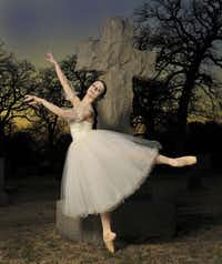 """Leticia Oliveira in the title role of """"Giselle"""" for Texas Ballet Theater"""