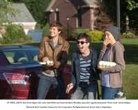 Gus (Ansel Elgort, left), Isaac (Nat Wolff) and Hazel (Shailene Woodley) enjoy their egg-throwing prank.( James Bridges  -  20th Century Fox )