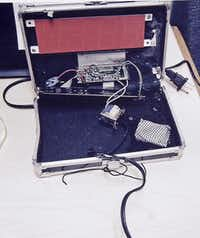 A teacher thought the homemade clock  that Ahmed Mohamed brought to school looked like a bomb, according to school and police officials.(Irving Police Department)