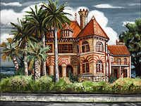 David Bates The Sealy House, 2012 Oil on panel 30 x 40 inches Image courtesy of the artist and Talley Dunn Gallery Photo credit: Kevin Todora