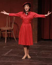 """Mary McElree as Consuelo in """"Too Many Girls,"""" at the Irving Arts Center's Carpenter Performance Hall."""