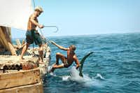 A fishing scene from Kon-Tiki, which will be showing on opening night at the Dallas International Film Festival.