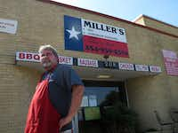 Pitmaster and owner Dirk Miller stands outside Miller's Smokehouse in Belton. Miller's was our final stop of the day and well worth the wait.