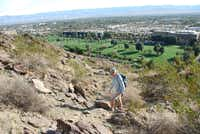 The city of Palm Springs pushes up against the San Jacinto Mountains, making a short pre-breakfast hike easy, with rewarding views over the city.