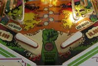 In this Dec. 16, 2013 photo, flippers and bumpers are shown on the 1979 Incredible Hulk pinball machine at the Seattle Pinball Museum in Seattle.