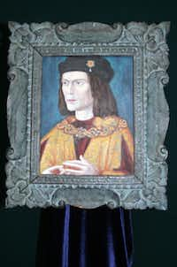 This portrait of Richard III was discovered in the safe of Leicester Cathedral, where the king will be re-interred in 2014.