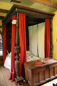 Donington le Heath Manor House, outside Leicester, claims to have Richard's royal bed from the Blue Boar Inn. The 13th-century stone building is the perfect setting for the bed, whose ancient frame and rope works may have been the king's; the posts and draperies are from much later.