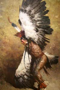 The Briscoe Western Art Museum, San Antonio, Texas. Eagle Dancer Potawatomi, Z. S. Liang (born 1953) 2010, oil