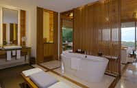 Ocean Pavilion bathroom at the Amanyara Resorts in the Turks and Caicos Islands.
