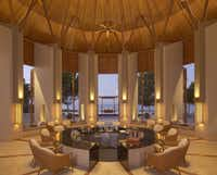 Bar at the Amanyara Resorts in the Turks and Caicos Islands.