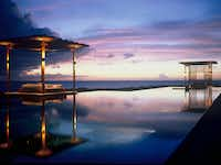 Swimming Pool of the Amanyara Resorts in the Turks and Caicos Islands.