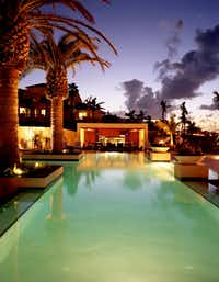 The Estate Pool at the Grace Bay Resorts in the Turks and Caicos Islands.