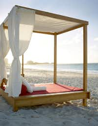 A beach bed at the Grace Bay Resorts  has a new partnership with celebrity interior designer, Thom Filicia.  Filicia will bring his sophisticated aesthetic and celebrated style to the brandÕs resort properties, including the renowned Grace Bay Club as well as The Residences, the companyÕs first private residential micro-resort of ultra-luxury, single family beachfront homes.