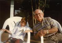 Harold Morrill, right, visits with grandson Ty Morrill on the latter's birthday around 1997.Photo submitted by KYLE MORRILL