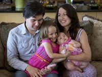 Vadym Kholodenko, winner of the gold medal at the Van Cliburn piano competition in 2013, moved from Ukraine to Fort Worth in 2014 with his wife, Sofya Tsygankova, and daughters Nika (center) and Michaela. (2014 File Photo/Fort Worth Star-Telegram)
