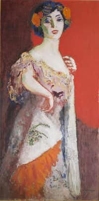 "Kees Van Dongen, ""Portrait de Madame Malpel,"" circa 1908. Oil on canvas.Collection of Nancy Lee and Perry Bass"