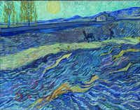 """Vincent Van Gogh's """"Le Laboureur,"""" 1889. Oil on canvas.( Collection of Nancy Lee and Perry Bass  -  )"""