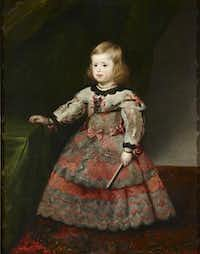 "Diego Rodriguez de Silva y Velasquez or Juan Bautista Mart nez del Mazo, ""Infanta Margarita,"" 1653.Courtesy  -  House of Alba Collection"