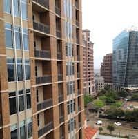 The Jordan apartment tower overlooks Uptown and McKinney Avenue. (Steve Brown/Staff)