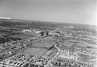Spring 1978 - aerial photo of dallas - northpark mall shopping center - campbell center - village apartments