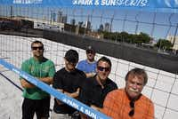 From left: The dudes behind the new oceanless beach bar in Deep Ellum are Ron McGuire, Skyler Dale Davis, Jeff Myers, Michael Morgan and Tim Manley.