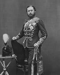 Edward VII, the Prince of Wales, circa 1867, was known for his womanizing and gambling.