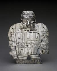 """Warrior plaque: silver from """"Wari: Lords of the Ancient Andes"""""""